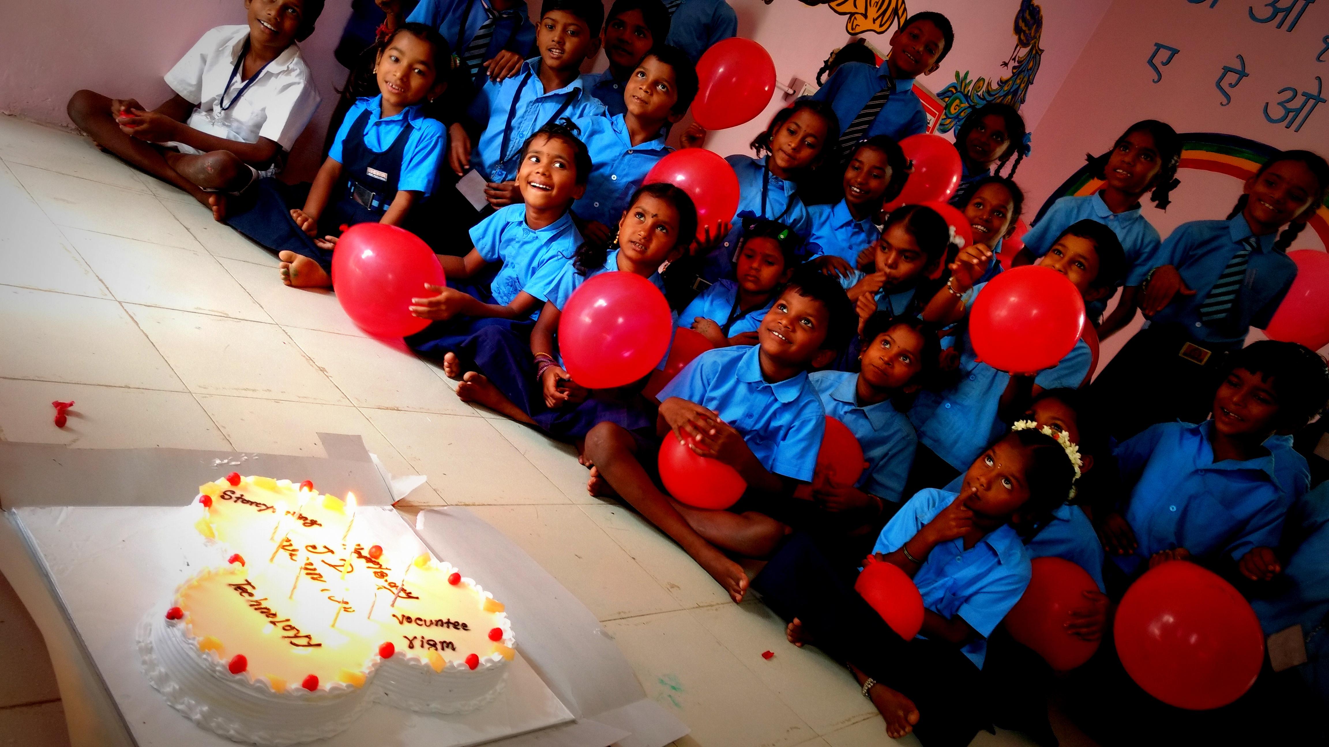 Birthday celebration at Volunesia