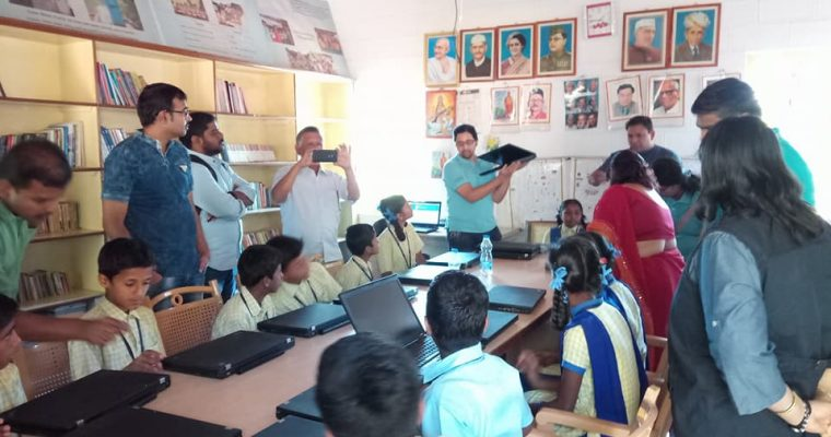 Paranga Vidya Kendra Gets Its First-Ever Computer Lab With 20 Laptops!