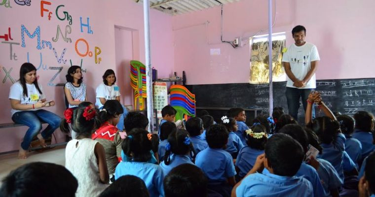 Student Intervention At Brindavan Tent School With Tarkeybein's English Curriculum